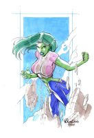 she-hulk sketchs by qualano