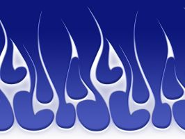 Flames - White Tribal on blue by jbensch