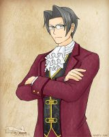 Turnabout Steampunk: Edgeworth by RabbitonBooks