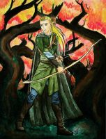 At the Ready -- Legolas -- by Black--Moth