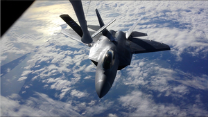 F-22 Raptor Refuel by AviatorAndy