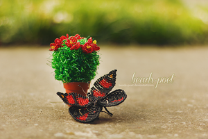 Beaded butterfly by beads-poet