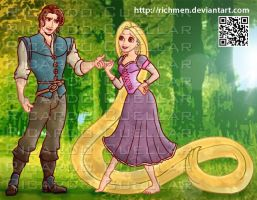 Flynn Rider Rapunzel Tangled by Richmen