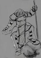 Warrior Monk turned into Space Marine WIP2 by Tartauris