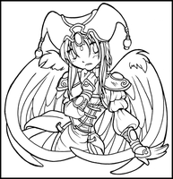 Lineart Angel by GainaSpirit