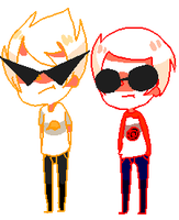Dirk and Dave (Transparent) by Karkat-chan