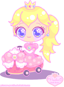 Peach in Mario Kart 7 by Princess-Peachie