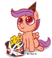 Scoota Birthday to Loo by Art-Anon