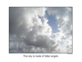 A sky of fallen angels by OrigamiSuicida