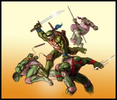 Ninja Turtles by KJVallentin