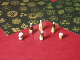 1:12 Scale Miniature Asian Sauces Colletcion by BeautifulEarthStudio