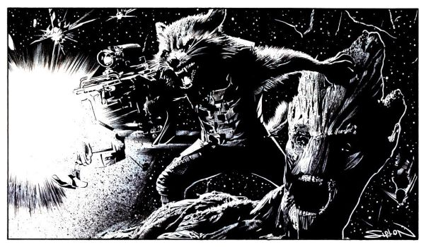Rocket and Groot by RandySiplon