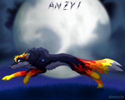 Anzy1 in the night by henu