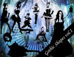 Gothic Photoshop Shapes Vol.1 by emmaalvarez