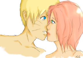 NaruSaku whisper by TeaAndCookies