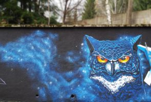 blue owl by diask1