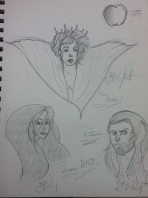 Snow White and the Huntsman sketch by angelballer45