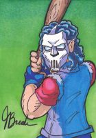 Sketch Card #20 - Casey Jones by destinyhelix