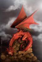 Red dragon by cylonka