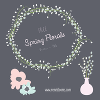 Floral Vector Resources FREE! by SunnyFunLane