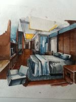 Water color interior by Tumhil