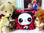 Kawaii Panda pillow by tho-be