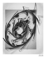 Swirl in Black and White by eccoarts