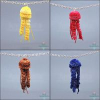 Crochet Jellyfish Necklaces by Bon-AppetEats