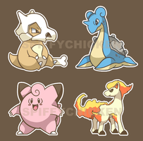 Pokemon Sticker Sheet 4 by spiffychicken