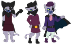 Puss 'N Boots: Cat Killer Boss- Outfit Mini Refs by spyroid101