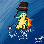 Top Hat Cyndaquil by BeybladerSteph-chan