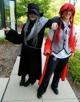 Undertaker and Grell Sutcliff by GrumpyCosplay