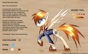 Reference Sheet - Blazing Gear by KairaAnix