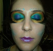 Peacock Faerie Makeup by FenigDurak