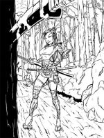 Samurai chick READY4fight by dumbguyjoe