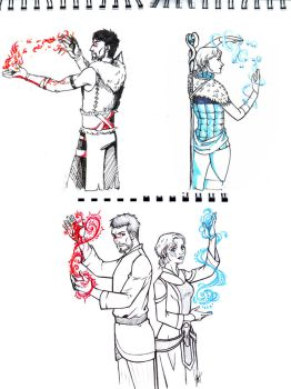 Hawke-Amell sketches by Fishik
