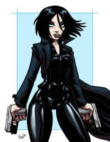 Selene - Underworld - Commish by EryckWebbGraphics