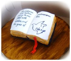 Mini Bible cake by Cakerific
