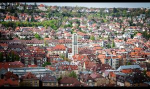Stuttgart from the hills by sylaan