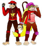 (Revised) Kong Kouple - Diddy and Dixie Redesigns by Varia31
