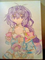 Pururut fan art Neptunia V colored by kingofanime7