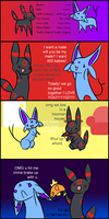 Eevee Comic - Ch 1 pg 1 by CheezieSpaz
