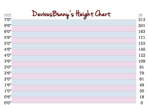 DeviousBunny's Height Chart ver.2.2 by DisastrousBunny