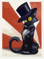 Tuxedo Cat Painted by 8kx
