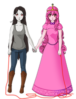 Bubblegum+Marceline by Drowning-Comic