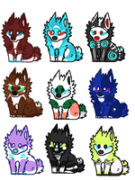 Canine adopts! (OPEN 9/9) by Lodidah