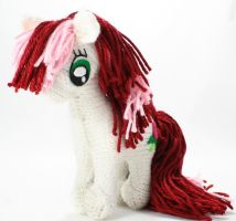 First Rose - Knitted Plush by SparkAbsurd