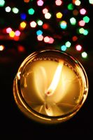 candle and bokeh by shaina74