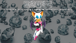 Rouge wallpaper by SonicBlueBlur94