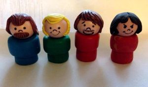 Crosby, Stills, Nash and Young in Fisher Price by hankinstein